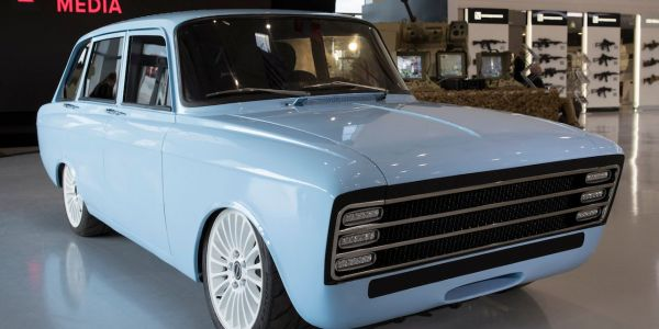 The Russian maker of the AK-47 built a Soviet-style electric car it says can rival Tesla