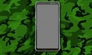 Photo of the Galaxy S8 Active appears, no dual-curved screen on board