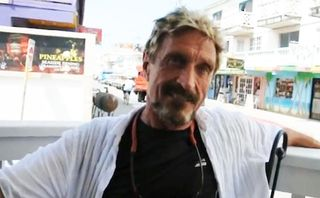 It looks like John McAfee has gone on the lam in the Bahamas