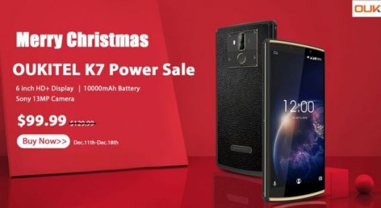 Big battery OUKITEL K7 Power Xmas sale for only $99.99 + giveaway