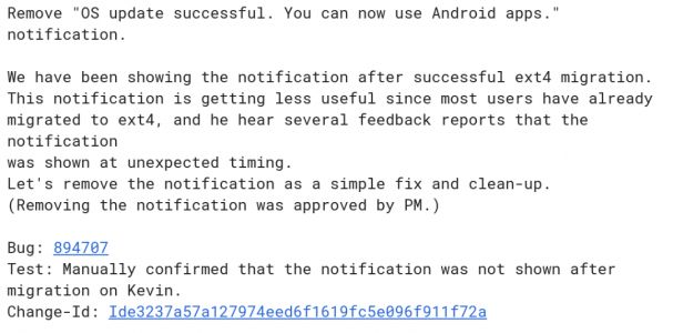 Broken Android Notification To Be Optimized Out Of Chrome OS