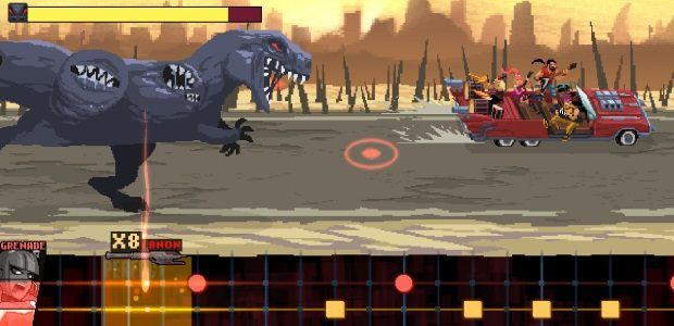 Out-rock the apocalypse in Double Kick Heroes