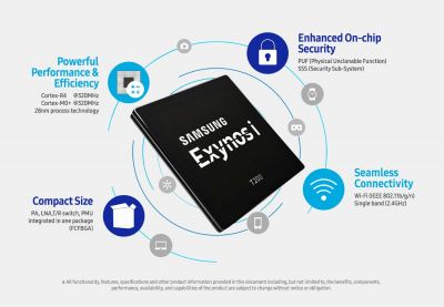 Samsung 'Exynos i T200' IoT SoC Goes Into Mass Production