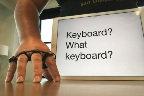 The Tap: An iPad keyboard without the actual keyboard