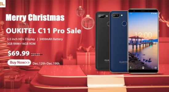 Merry Xmas from OUKITEL ! C11 Pro available just for $69.99
