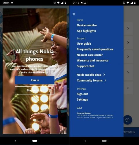 The latest update for Nokia My phone app fixes errors making community accessible again