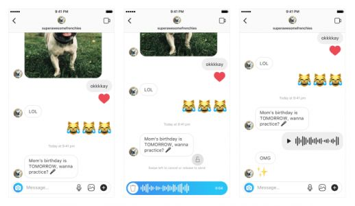 Instagram launches walkie-talkie voice messaging