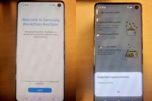 Galaxy S10 leak shows hole-punch display and cryptocurrency wallet