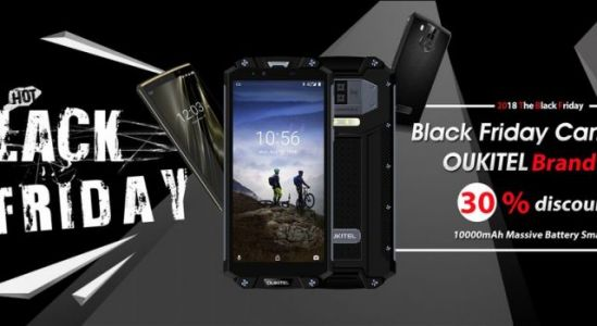 OUKITEL Black Friday sales with up to 30% off for 10.000+ mAh phones