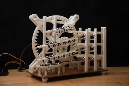 Forget hands - this 3D-printed clock keeps time using nothing but marbles