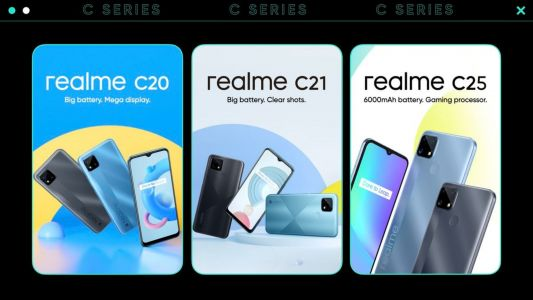 Realme C25, C21, and C20 budget phones launched in India