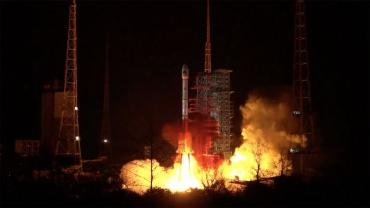 Chinese Long March 3B rocket fails during launch of Indonesian satellite