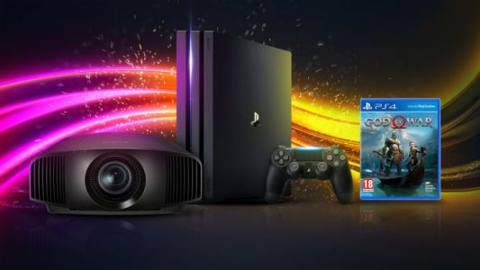 Win a £5k 4K HDR Gaming Projector, PS4 Pro and God of War