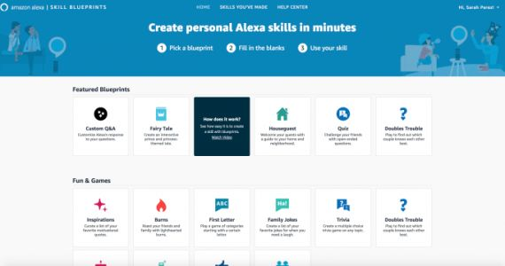 Amazon's new 'Alexa Blueprints' let anyone create custom Alexa skills and responses
