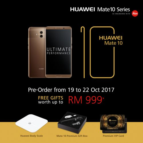 Huawei Mate 10 opens up for pre-order in Malaysia on the 19th