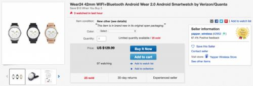 Verizon's Wear24 smartwatch reappears on eBay for just $129