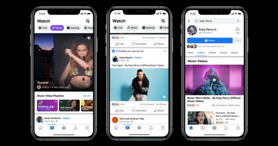 Facebook is launching official music videos in the US