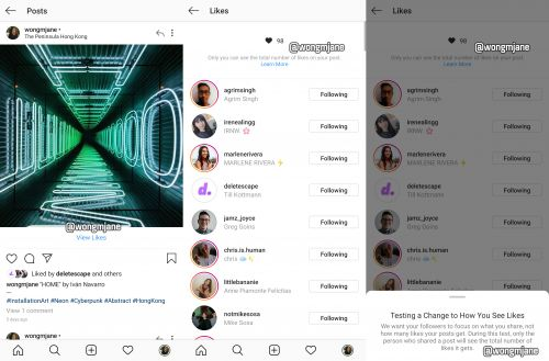 Instagram hides Like counts in leaked design prototype