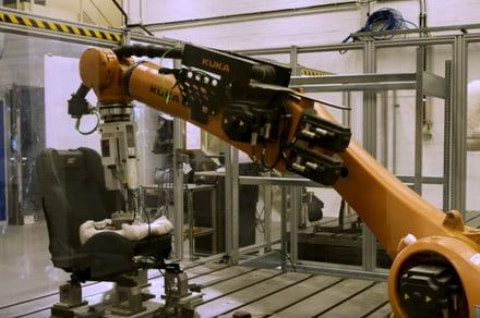 Ford's sweaty robot bottom can simulate 10 years of seat use in mere days
