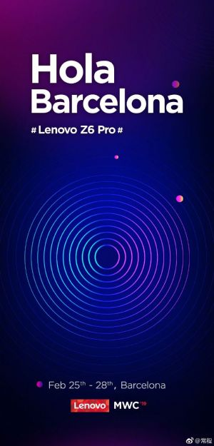 Lenovo Z6 Pro To Launch At MWC 2019 With Wireless Charging