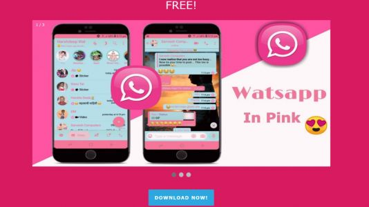 What should you do if you get a link for WhatsApp in pink&quest