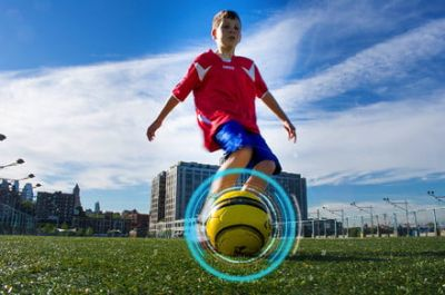 DribbleUp's smart soccer ball uses augmented reality to level up your game