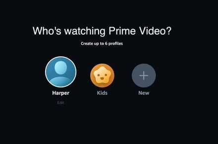 Amazon now lets you create up to six viewer profiles on Prime Video