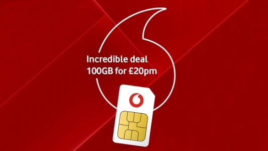 Epic data SIM only deal from Vodafone: go big with 100GB for just £20 a month