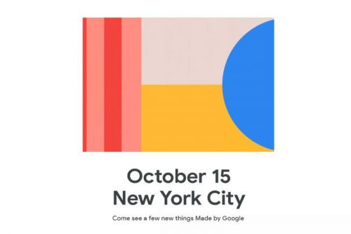 The Google Pixel 4 will be announced on October 15