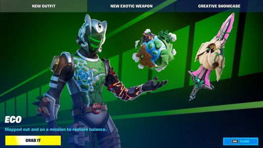 Fortnite's original map makes an unlikely return as a player skin