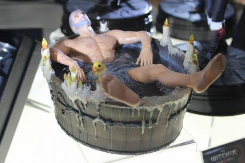 Check Out This Hilarious Geralt In A Bathtub Statue