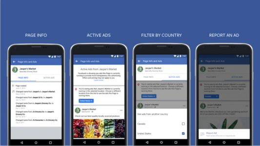 Facebook will allow you to see all the active ads from any Page