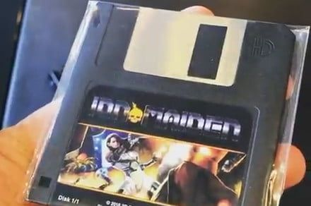Retro old-school shooter 'Ion Maiden' is being released on a floppy disk