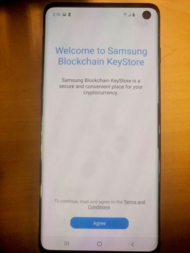 Samsung Galaxy S10 poses for more photos to show its hole-punch display and cryptocurrency wallet