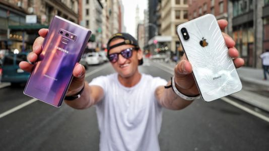 YouTube's most famous camera guy did the iPhone X vs Galaxy Note 9 shootout we've been waiting for
