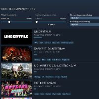 Steam embraces machine learning with interactive recommendation tool