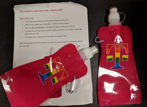T-Mobile Tuesdays will soon offer free Pride water bottles to customers