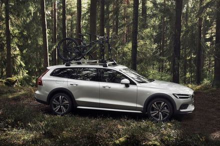 Volvo's lifted V60 Cross Country wagon laces up its hiking boots