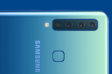 How many? The Samsung Galaxy A9 has 4 camera lenses in the back