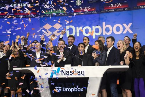 Dropbox shares soared today in biggest tech IPO since Snapchat