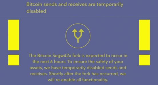 Crypto exchange desks freeze Bitcoin transactions ahead of wayward Segwit2X fork