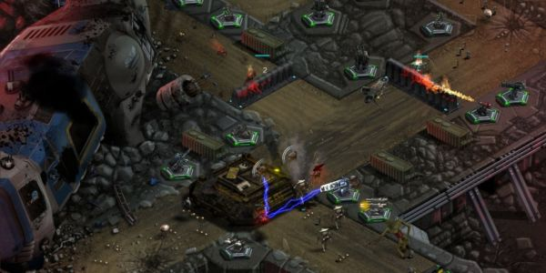 2112TD is a tower defence game for iOS and Android that aesthetically pays homage to 90s RTS games