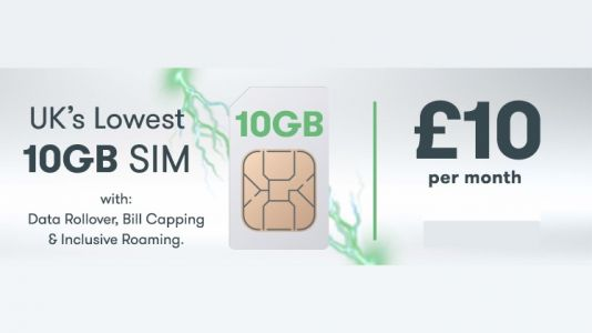Our exclusive SIM only deal is the best value SIMO in the UK: 10GB for a tenner a month