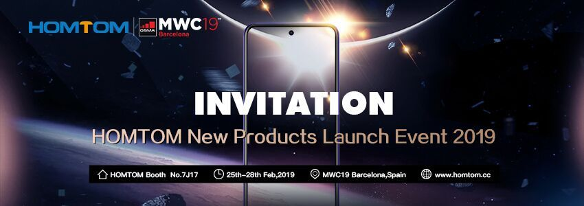 New teaser for HOMTOM new products MWC 2019 launch