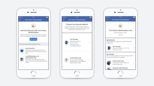 Facebook is making two-factor authentication even easier to set up