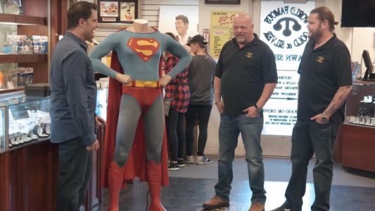 Watch Some Guy Try to Sell Christopher Reeves' Original SUPERMAN Costume on PAWN STARS