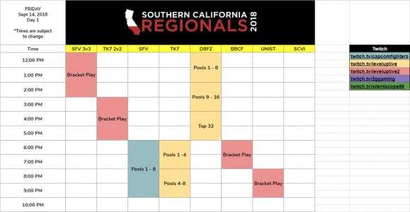 SoCal Regionals 2018 streaming live from Ontario, California