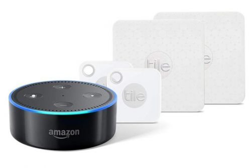 Amazon will give you a free Echo Dot when you buy 4 Tile Bluetooth trackers