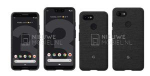 Here are alleged press renders of the Google Pixel 3 and 3 XL