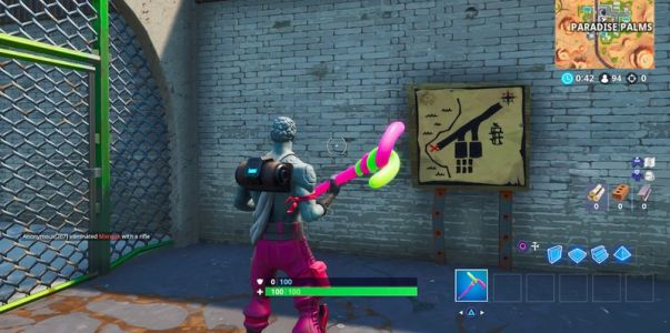Get some treasure! How to find the treasure map signpost in Fortnite